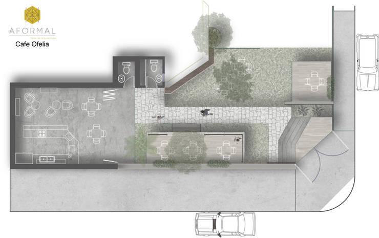 Planta arquitectónica: Cocinas de estilo  por Aformal, Moderno Piedra