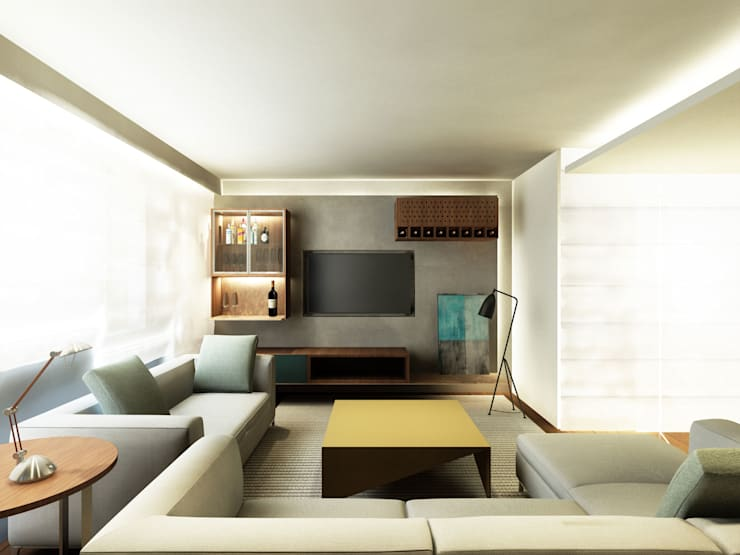 APARTAMENTO PRINCESA ISABEL Salas de estar modernas por Zanatta Figueiredo Arquitetos Associados Moderno