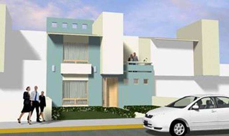 PROPUESTA DE FACHADA: Casas de estilo  por Rueda Arquitectura y Bienes Raíces, Moderno