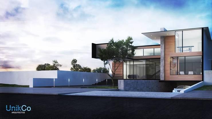 Residencia Arana Exterior - Zapopan, Jalisco.: Casas de estilo  por Unikco Arquitectos