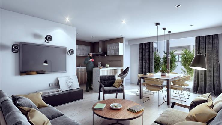Venturi Residencial: Cocinas de estilo  por IARKITECTURA, Moderno Compuestos de madera y plástico