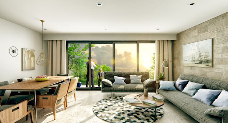 Venturi Residencial: Salas de estilo  por IARKITECTURA, Moderno Vidrio