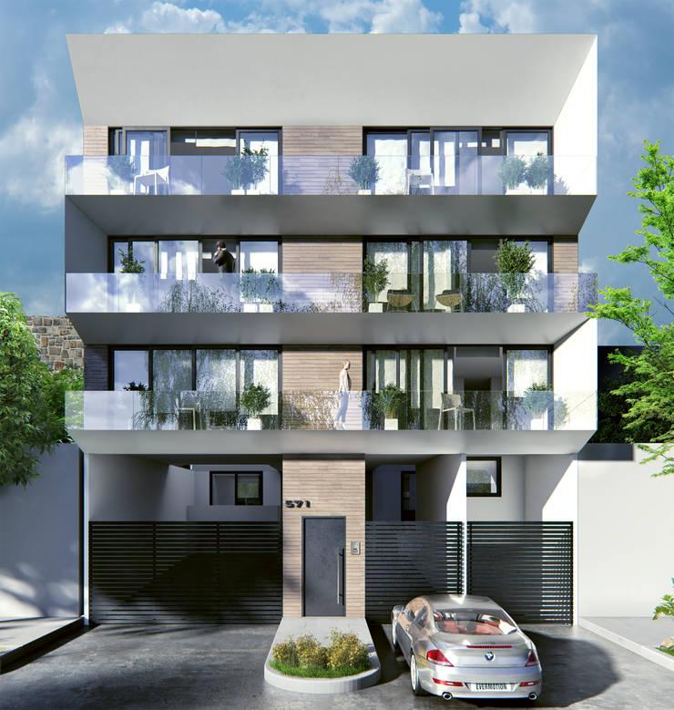 Venturi Residencial: Casas de estilo  por IARKITECTURA, Moderno Piedra
