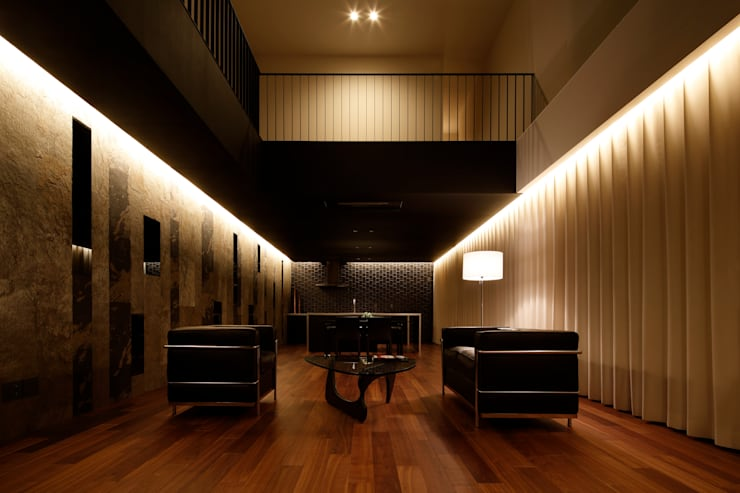 eclectic Living room by MooS/ムース