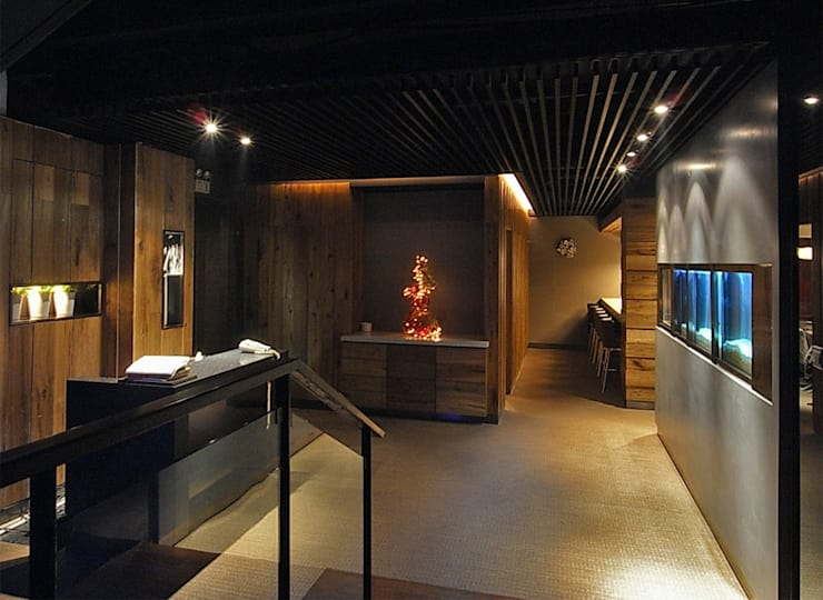 天津 山葵鐵板燒2店:  辦公室&店面 by 直譯空間設計有限公司