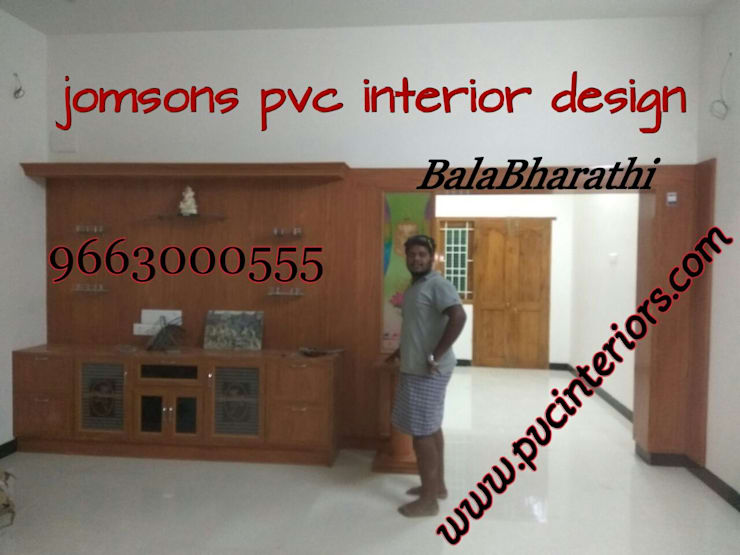 balabharathi pvc tv showcase design : modern Kitchen by balabharathi pvc interior design