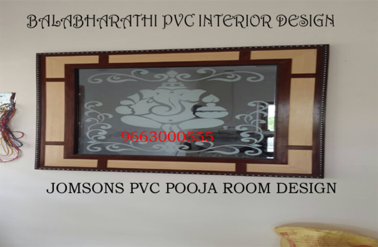 pvc pooja room in erode pvc parition in erode pvc cupboard in erode-balabharathi: modern Kitchen by balabharathi pvc interior design