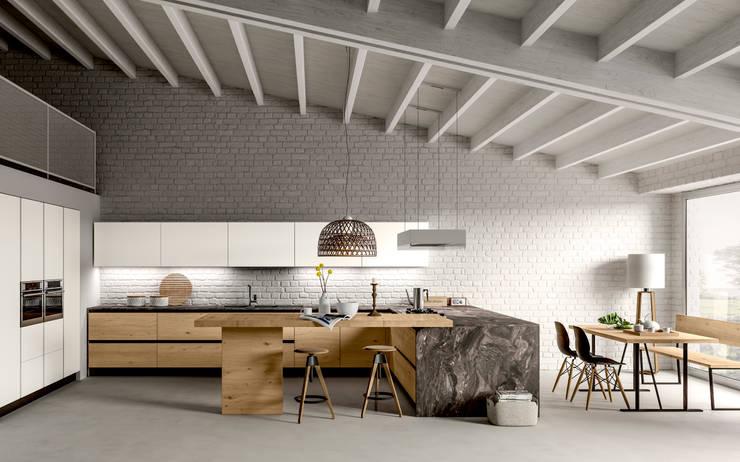 Cocinas de estilo ecléctico por Atra Cucine