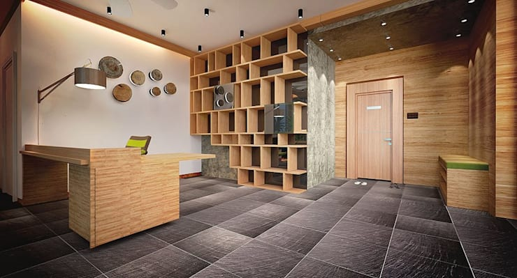 Working Area:  Hotels by Much Creative Communication Limited, Tropical Wood Wood effect