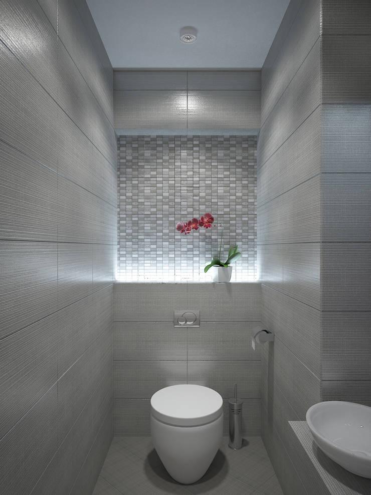 Визитная карточка в ЖК Дирижабль: Ванные комнаты в . Автор – Дизайн бюро Оксаны Моссур