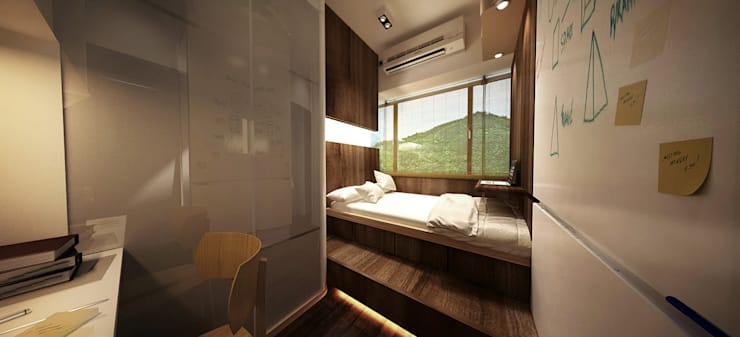 6/F TOWER 6 METRO TOWN PHASE 2 LE POINT: minimalistic Bedroom by Much Creative Communication Limited