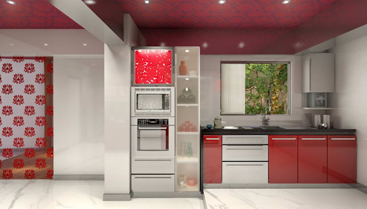 Lively Kitchen: classic Kitchen by AAMRAPALI BHOGLE