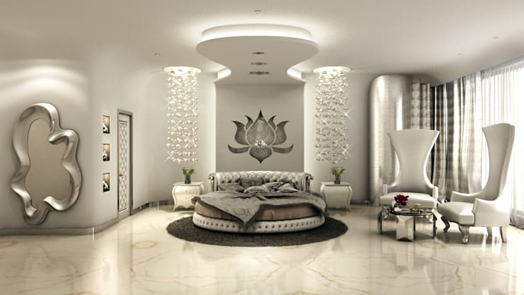 Serene Bedroom:  Bedroom by AAMRAPALI BHOGLE