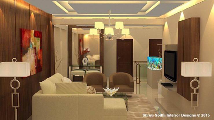 Interior Decoration:  Living room by Shruti Sodhi Interior Designs
