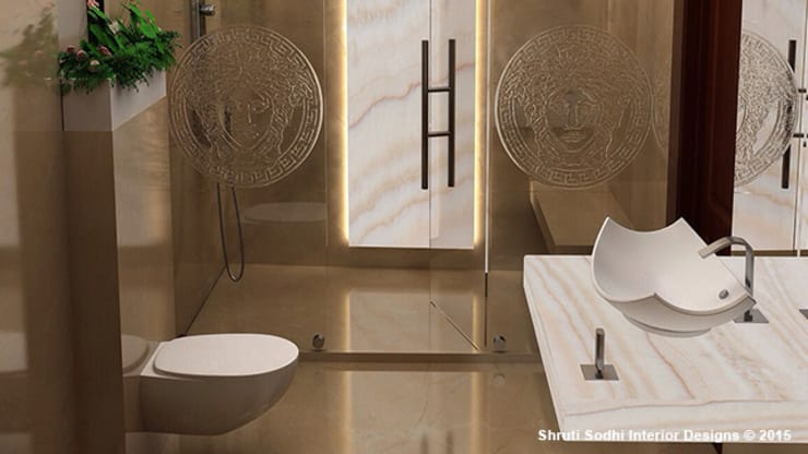 Interior Decoration:  Bathroom by Shruti Sodhi Interior Designs