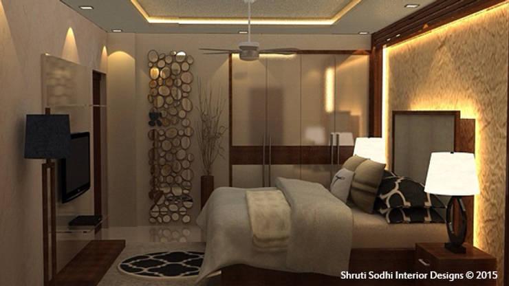 Interior Decoration:  Bedroom by Shruti Sodhi Interior Designs