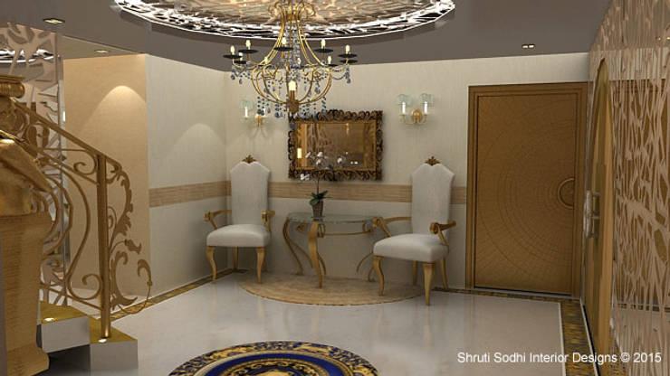 Interior Decoration:  Corridor & hallway by Shruti Sodhi Interior Designs
