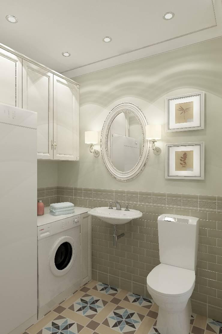 Американская классика в Химках: Ванные комнаты в . Автор – Дизайн бюро Оксаны Моссур
