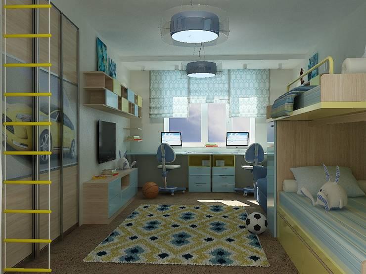 Американская классика в Химках: Детские комнаты в . Автор – Дизайн бюро Оксаны Моссур
