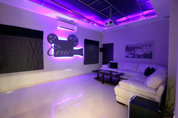modern Media room by The Inner Story