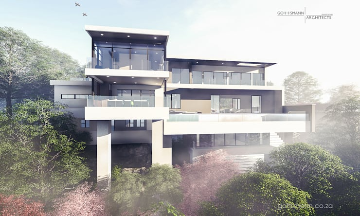 Elevation of House:  Houses by Gottsmann Architects
