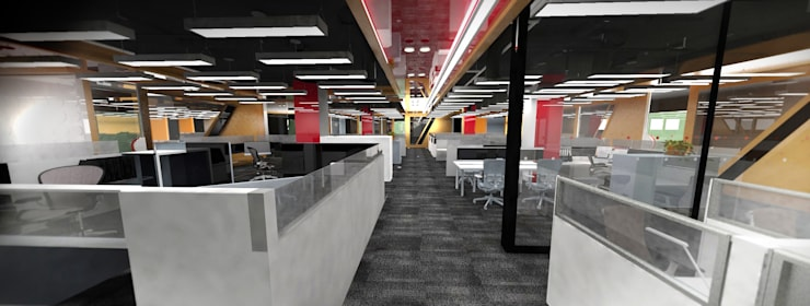 Working Area:  Corridor & hallway by Much Creative Communication Limited,