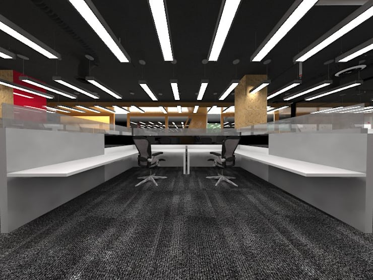 Working Area:  Study/office by Much Creative Communication Limited,