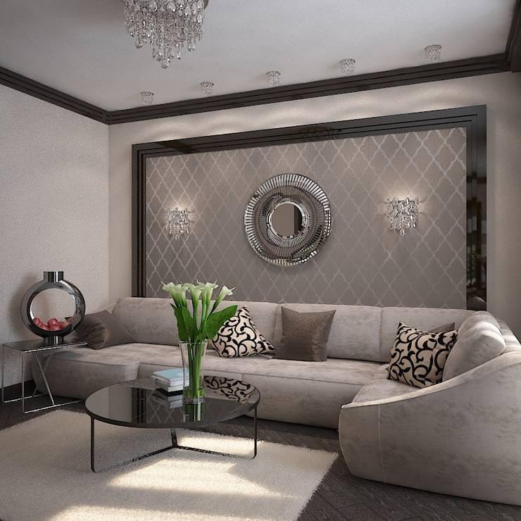 Миланские мечты: Гостиная в . Автор – Дизайн бюро Оксаны Моссур