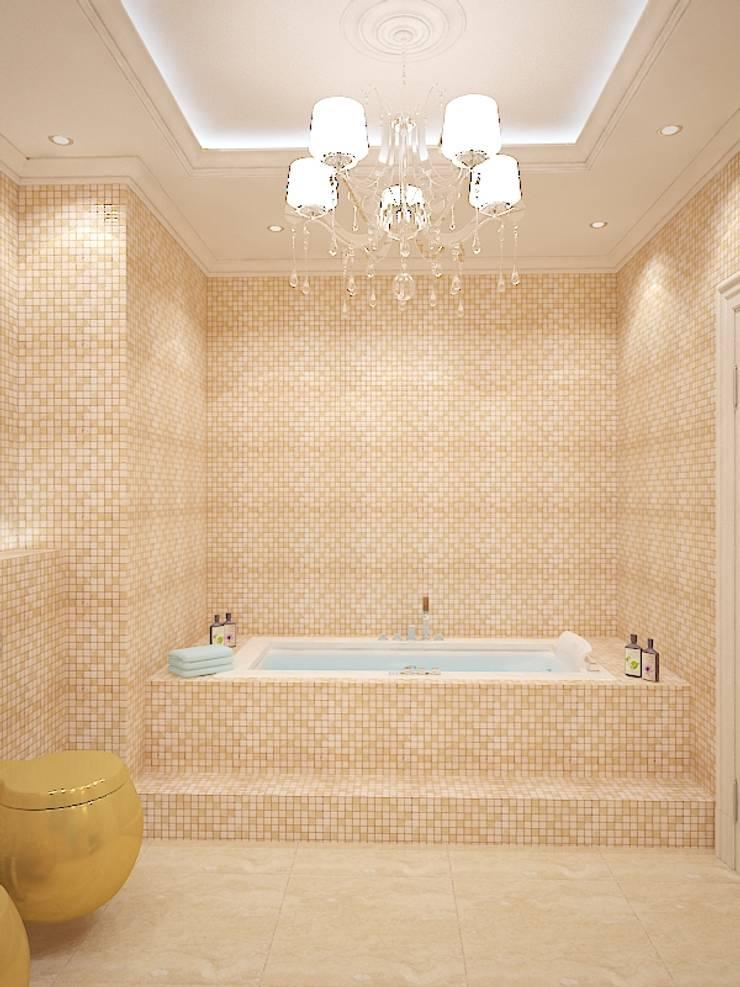 Хутор Насти в ЖК Янтарный город: Ванные комнаты в . Автор – Дизайн бюро Оксаны Моссур