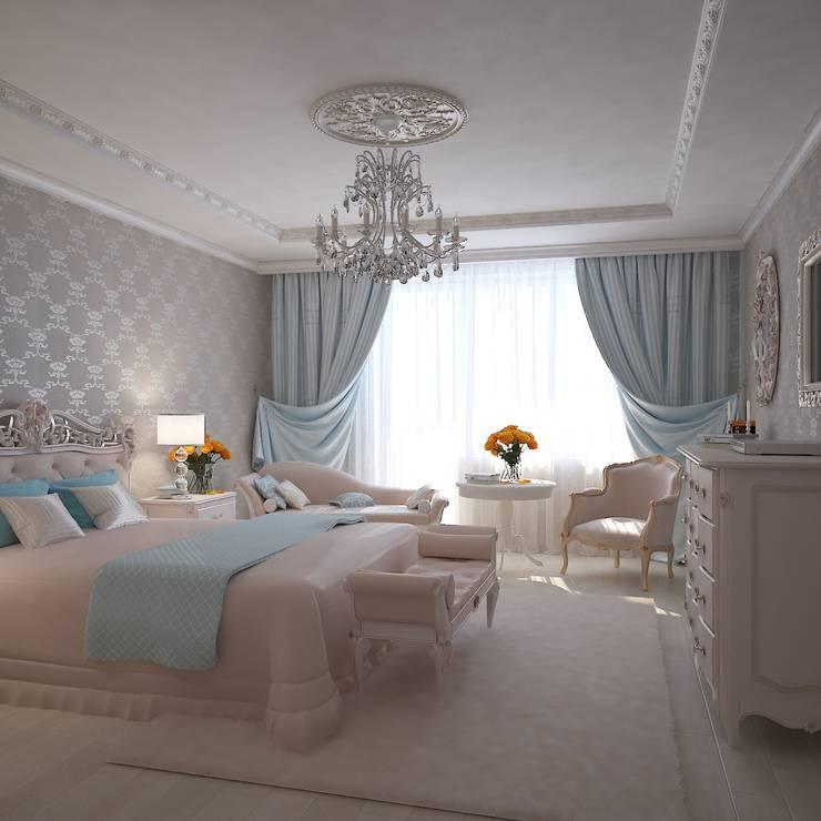 Чай с молоком в Соловьиной роще: Спальни в . Автор – Дизайн бюро Оксаны Моссур