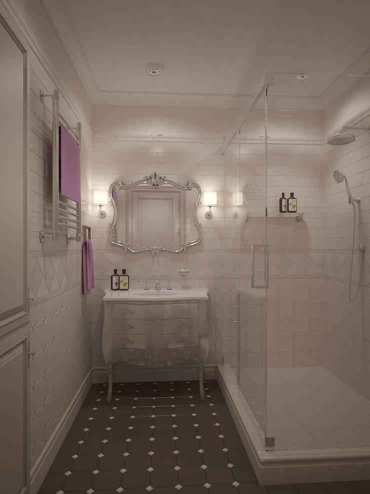 Чай с молоком в Соловьиной роще: Ванные комнаты в . Автор – Дизайн бюро Оксаны Моссур