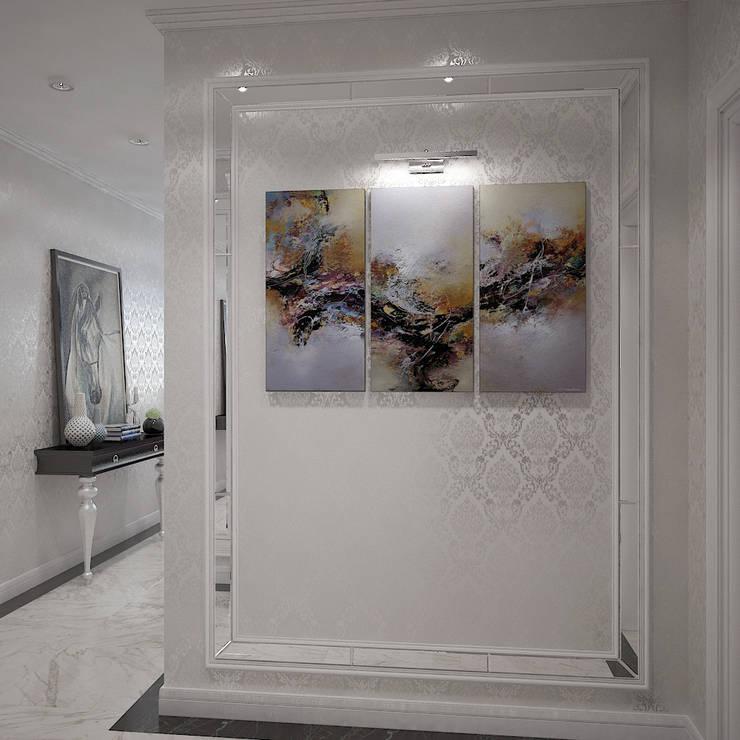 Гламурное гнездышко для мисс на Мичуринском проспекте: Коридор и прихожая в . Автор – Дизайн бюро Оксаны Моссур