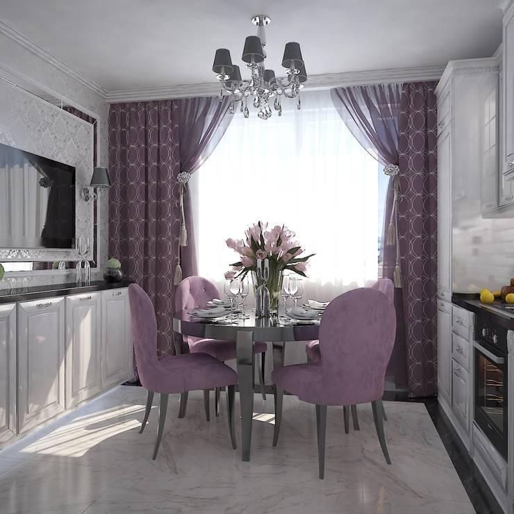 Гламурное гнездышко для мисс на Мичуринском проспекте: Кухни в . Автор – Дизайн бюро Оксаны Моссур