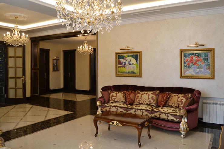 Дизайн интерьера частного дома: Гостиная в . Автор – Дизайн бюро Оксаны Моссур