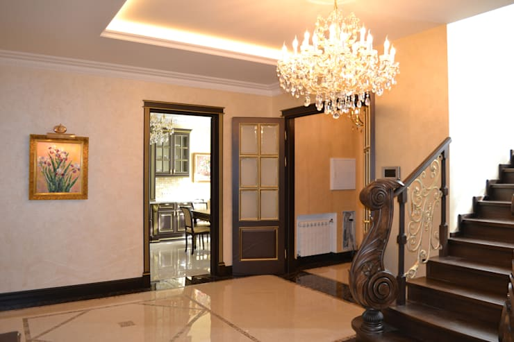 Дизайн интерьера частного дома: Коридор и прихожая в . Автор – Дизайн бюро Оксаны Моссур