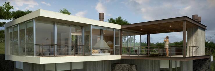 Proyecto DC - Vista Este: Casas de estilo  por AR   arquitectos,
