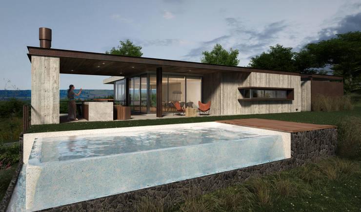 Proyecto DC - Vista Norte: Casas de estilo  por AR   arquitectos,