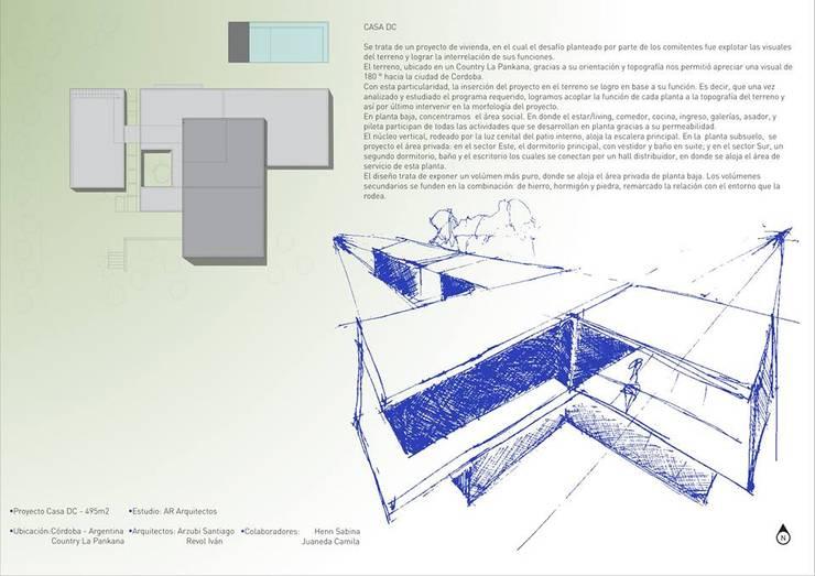 Proyecto DC - Descripcion: Casas de estilo  por AR   arquitectos,