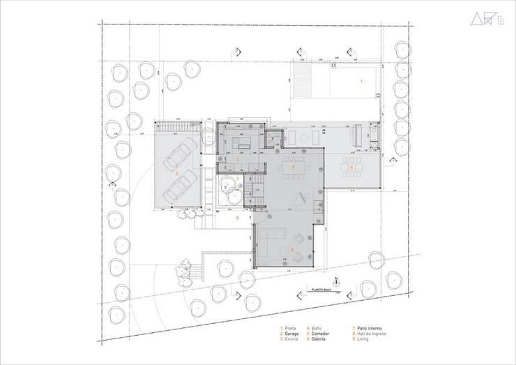 Proyecto DC - Planta Baja: Casas de estilo  por AR   arquitectos,