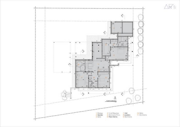 Proyecto DC - Planta Subsuelo: Casas de estilo  por AR   arquitectos,
