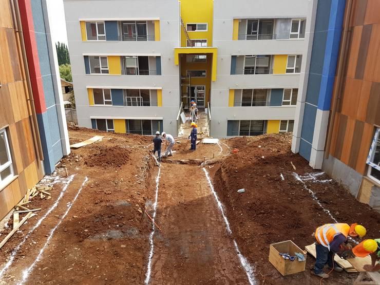 Condominio Lomas de Javiera, Temuco: Casas de estilo  por Equipo Jaspard Arquitectos