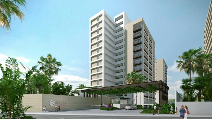 Acceso principal: Casas de estilo  por TaAG Arquitectura, Moderno Piedra
