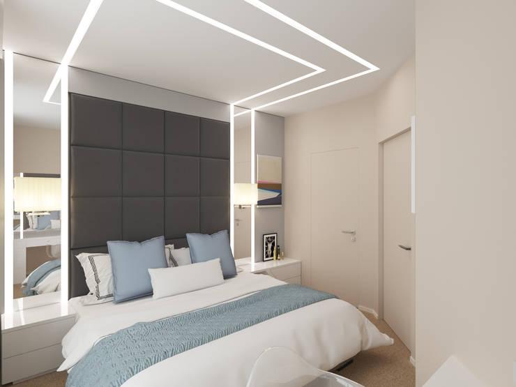 Спальная комната: Спальни в . Автор – Архитектурно-дизайнерская компания Сергея Саргина