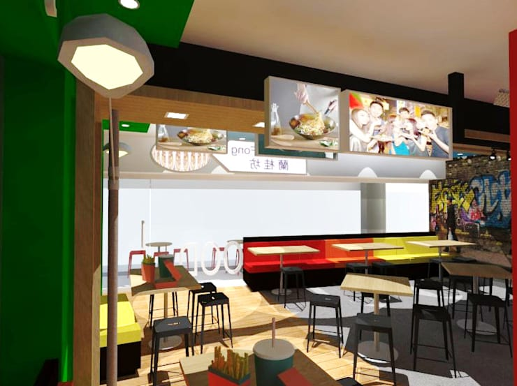 Restaurante LKF Urban Food. : Restaurantes de estilo  por SCABA EQUIPAMIENTO Y ARQUITECTURA COMERCIAL , C.A.