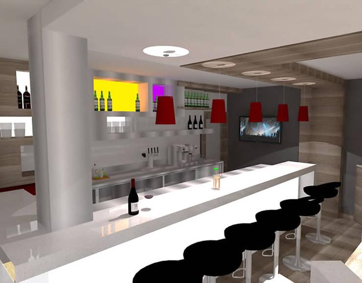 Restaurante Planta Alta. : Restaurantes de estilo  por SCABA EQUIPAMIENTO Y ARQUITECTURA COMERCIAL , C.A.