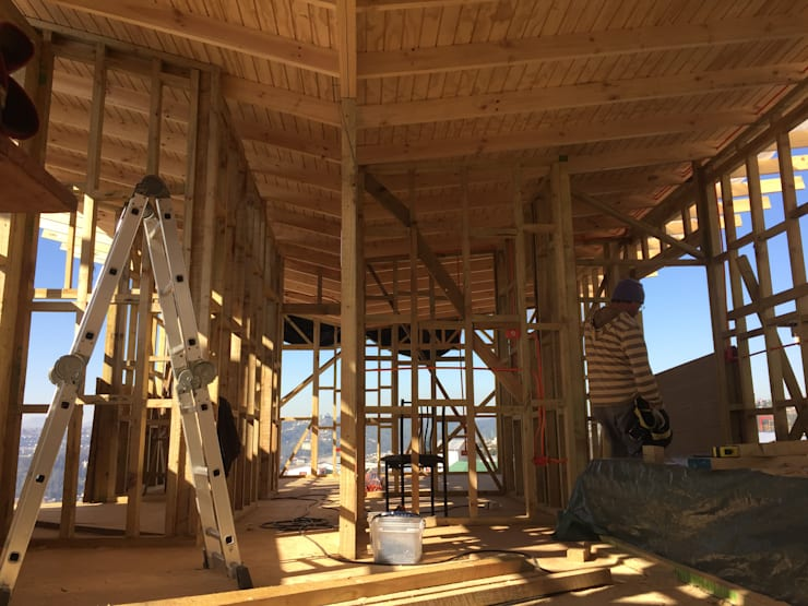 proceso constructivo : Casas de estilo  por Rodrigo Chávez Arquitecto