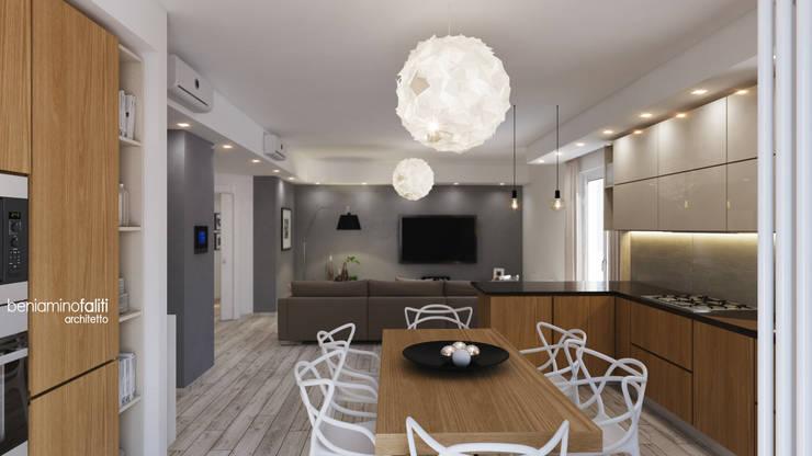 Zona living: Cucina in stile  di Beniamino Faliti Architetto