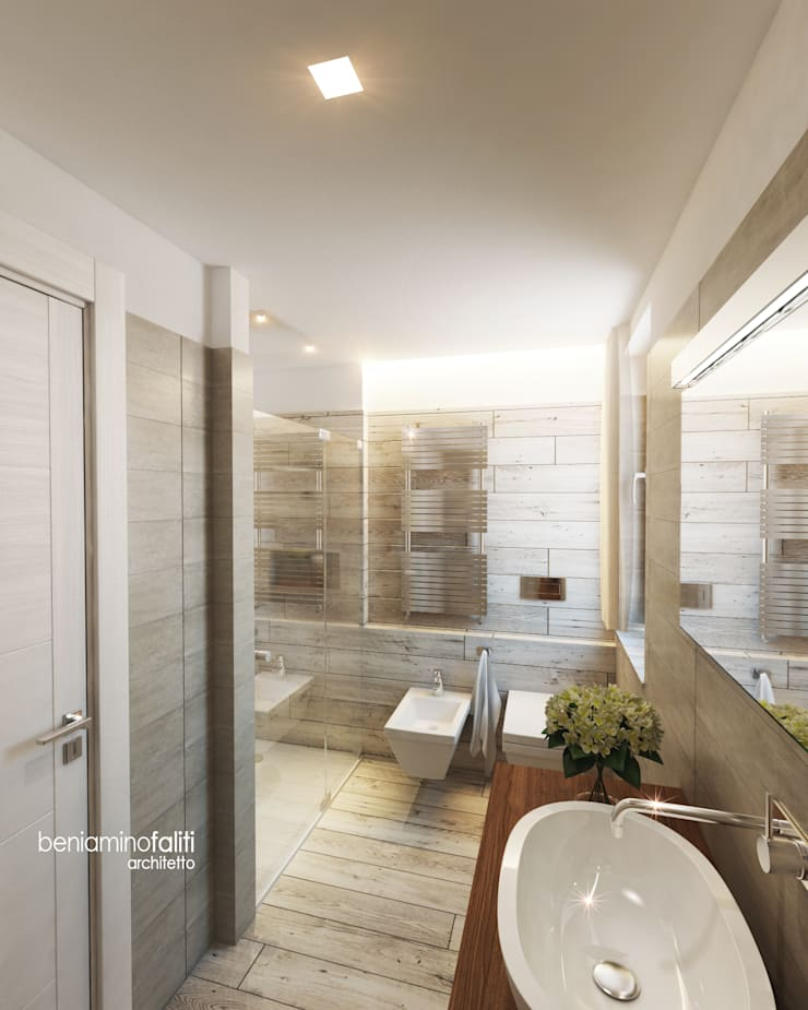 Modern bathroom by Beniamino Faliti Architetto Modern