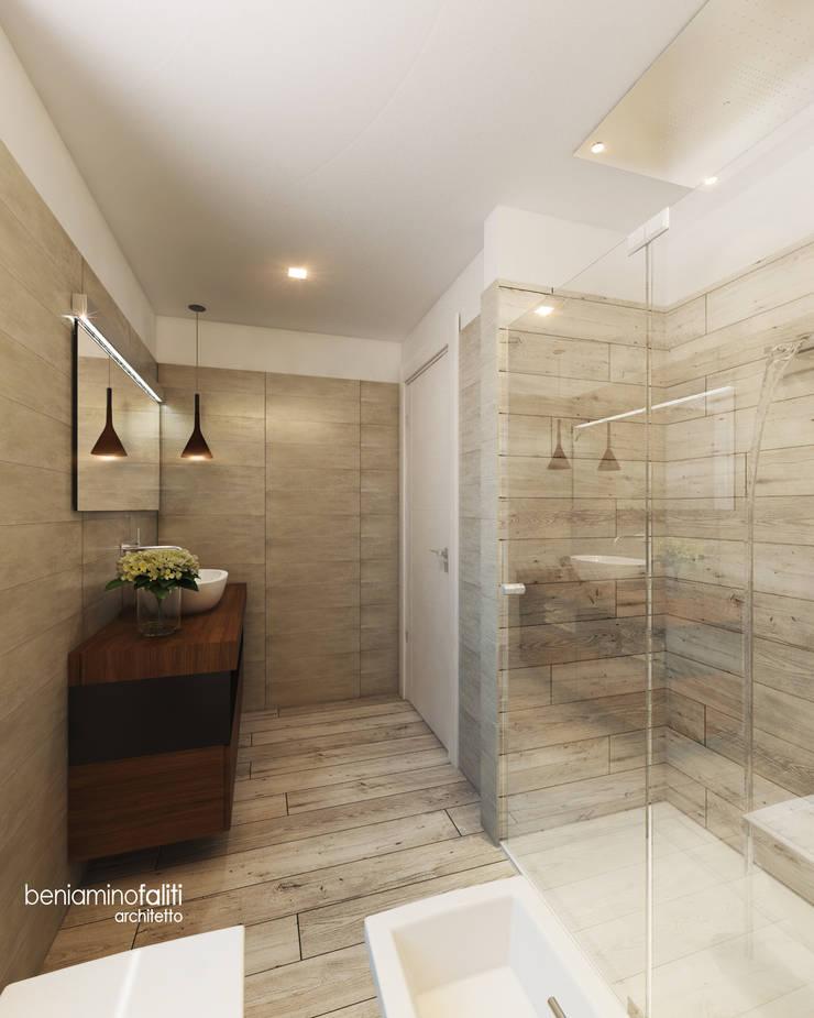 Bagno notte: Bagno in stile  di Beniamino Faliti Architetto