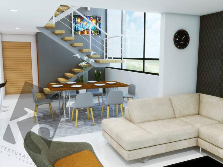 Comedor a doble altura: Comedores de estilo  por KS Architektural Solution, Moderno